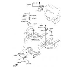 MOTOR KULAĞI ÖN/ARKA ÜST İX35/SPORTAGE 11- 1.6 OTO
